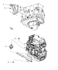 2009 dodge nitro engine mounting left side