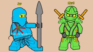 Lego Ninjago Jay And Lloyd Coloring Page Fun Coloring Activity For