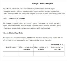Life Planning Templates Life Plan Template 6 Free Word Pdf Documents Download