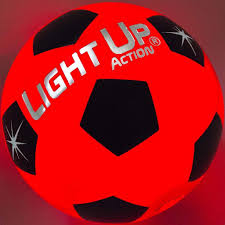 Light Up Ball Game Light Up Action Soccer Ball Silver Edition Value Pack Traditional Size 5