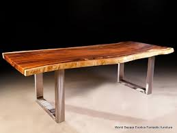 Modena Solid Wood Metal Dining Table
