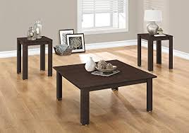 3 piece coffee table set with shelves