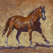 debbie grayson lincoln run run run running horse oil painting