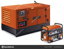 industrial power generators. Industrial Power Generators \u2014 Stock Vector