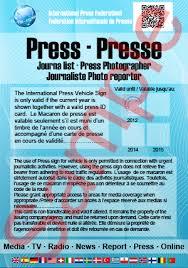 Federation - Pass Sign Credentials International Media Id Press ipf Card Car