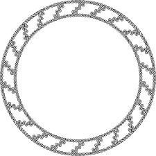 Circle Border Decorative Circle Border Free Printable Papercraft Templates