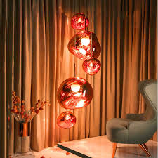 <b>Nordic Glass</b> Led <b>Pendant Lights</b> Hanging Melt Lava Luster Crystal ...