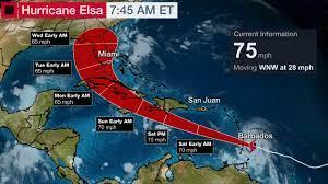 Hurricane Elsa Forms, Heading Towards ...
