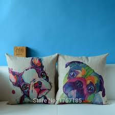 buy nordic style animal cushions painting french bulldog and pug
