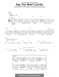 say you won t let go sheet music say you wont let go by j arthur n ormandy s solovan on musicaneo