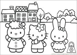 Hello Kitty Coloring Pages Pdf Hello Kitty Coloring Page Free Hello