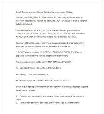 Death Notices 35 Free Printable Word Excel Pdf Format Download