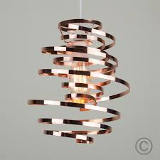 iconic lighting. Squiggle Twisted Spiral Pendant Light Shade, Copper Iconic Lighting R