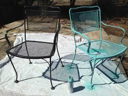 refinishing wrought iron patio furniture lovely i m no longer a
