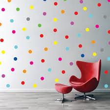 Bedroom:Polka Dot Wall Decals Confetti Rainbow Then Bedroom Delectable  Photograph Decor Classy Polka Dot