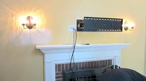 mounting tv above fireplace interior mounting above fireplace too high cable box location hanging over mantels
