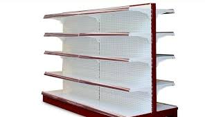 double sided supermarket display racks convenience shelving units