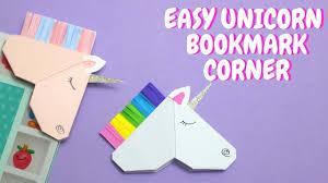easy unicorn bookmark corner paper crafts for kids