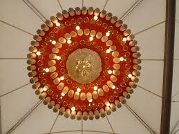 eco designer sarah turner creates large recycled chandeliers