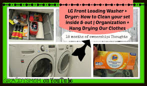 Cleaning Front Load Washing Machine Cleaning Your Lg Front Load Washer Dryer Inside Out Laundry