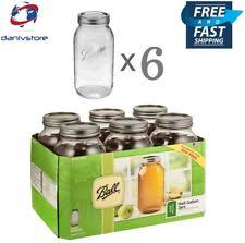 ball 9 count 24 ounce wide mouth jars with lids and bands. ball mason glass jars half gallon 64 oz wide mouth with lids and bands, set 9 count 24 ounce bands p