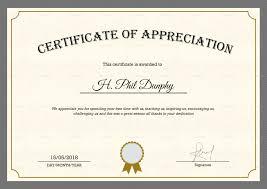Sample Company Appreciation Certificate Template