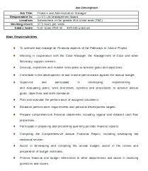 Financial Manager Job Description Duties Of Finance Manager Finance ...