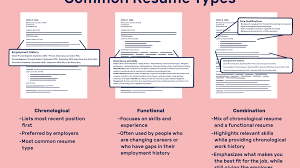Redume Different Resume Types