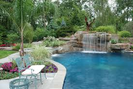 Pool Landscape Design Contemporary Pool Tropical Landscaping Ideas The More Inside
