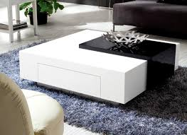 black and contemporary white coffee table  attractive