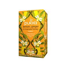 Buy Lemon, <b>Ginger</b> & Manuka Honey <b>Herbal Tea</b> - Pukka Herbs ...