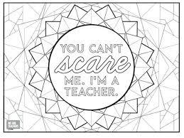 Teacher Coloring Page Because Teachers Are Tough Teacher