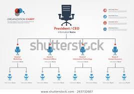 Smart Organizational Chart Modern Smart Organization Chart Which Apply Stock Vector