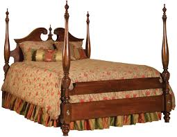 Queen Anne Bedroom Furniture Kincaid Furniture Carriage House Queen Broken Pediment Poster Bed