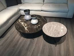 round living room nesting tables with marble on top