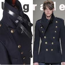 2018 whole gothic those days clothing british winter slim fit navy blue blazer wool mens pea coat trench long jackets coats for men m l from maoku