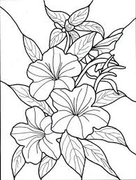 free flower coloring book pages 007 tropical flowers stained gl coloring book