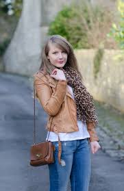 leopard scarf tan leather jacket lorna burford