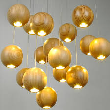 native wood handmade wooden chandelier hanging led pendant lamp ceiling light meteoric shower stair light chandelier lighting droplight lamp unique