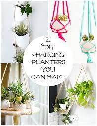 21 <b>DIY Hanging</b> Planters YOU Can Make | Make and Takes