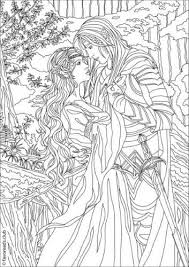 Fantasia Fantasy Romance Fantasy Coloring Pages For Adults
