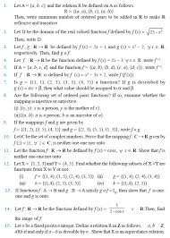 Class 12 Important Questions for Maths – Relations and Functions ...