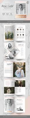 Magazine Layout Design Pinterest Rose Gold Theme Magazine By Marigold Studios On