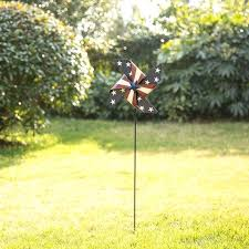outdoor hanging metal wind spinners home patriotic spinner garden stake reviews