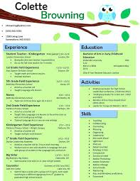 Teacher Resume Templates Free Extraordinary Nursery Teacher Resume Equios