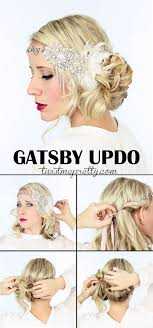the perfect gatsby hairstyles for your 1920 flapper costume e checkout the vine updo and watch the easy to follow video tutorial