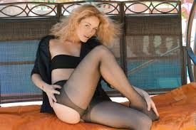 Blonde madonna and nude