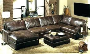 bernhardt grandview leather sectional couch