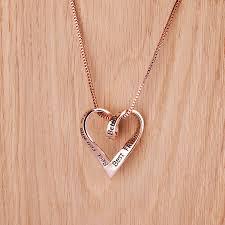 best friends rose gold message necklace