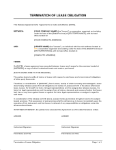 termination of lease obligation letter to terminate a contract